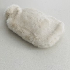 Hot Water Bottle Cover | Faux Fur | Snowy White