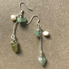 Jade Chain Drop Earring