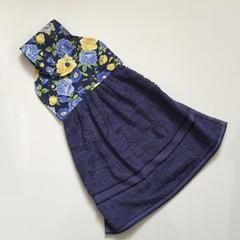 Blue floral Designer Hand Towel