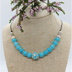 Turquoise Cream Necklace