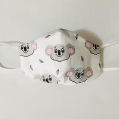READY TO POST 3 layer Mask Koala Face Cover Reusable Cloth Mask