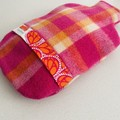 Hot Water Bottle Cover | Wool | Hot Pink and Orange
