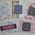 Set of 5 Handmade Notecards - Flora