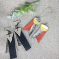 Make Your Own Leather earrings KIT-MERMAID & PURPLE