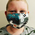 COTTON FACE MASK - 4 LAYERS - BREATHABLE & WASHABLE -  Child size 8-12