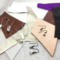 Make Your Own Leather earrings KIT- TAN & NEUTRALS