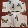 Fabric Facemask - Butterfly Pattern