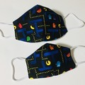 READY TO POST 3 layer Mask PacMan Face Cover Reusable Cloth Mask
