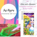 """5D Diamond Painting Kit """"Alice and Absolem"""" - Complete Art Kit Full Square Drill"""