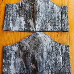 Fabric Facemask - Grey Stone Pattern