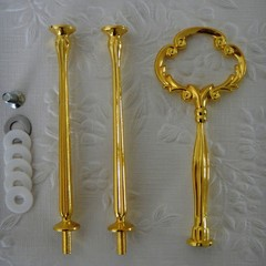 3 Tier Gold Clover Fitting Hardware Rods and Handle