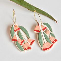 Silver Princess Botanical Hoop earrings