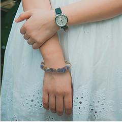 Ceramic and copper bracelet