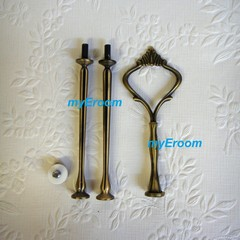 Cake Stand Handle 3 Tier Bronze Crown Cake Stand Fitting Hardware kit