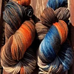 Hand Dyed 4ply Fine Australian Merino Nylon Sock Yarn - Bay of Fires