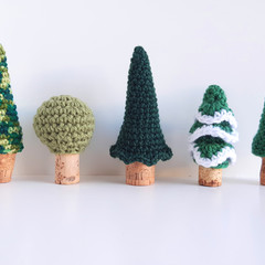 Crochet trees for imaginative play