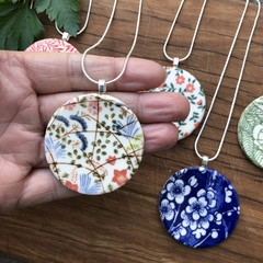 Ceramic printed pendants