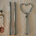 5 sets of 3 Tier HEART Cake Stand Fittings / Handle in Silver or Gold