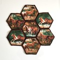 Horses Hand-pieced Hexagon Table Centre