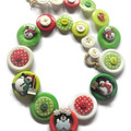 Christmas necklace - Frosty and Friends