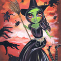 """Wicked Witch of the West"" Art Print by Jaz Higgins - Wizard of Oz inspired"