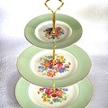 How to make a Vintage 3 Tier Cup Cake Plate Wedding Stand DIY kit Instructions