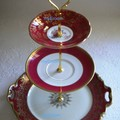 3 tier Cake Stand Fitting Gold Crown Centre Fitting