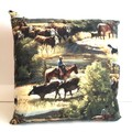 The Drovers Run Cushion Cover
