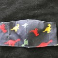 Dinosaur Fabric Face Masks size: 3-6yrs kids