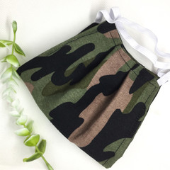Fabric Face mask, Camouflage Green