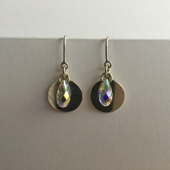 Charm drop earrings handcrafted with sterling silver 925