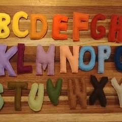 Merino felt letters