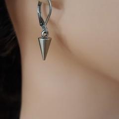 Unisex Steel Spike Earrings