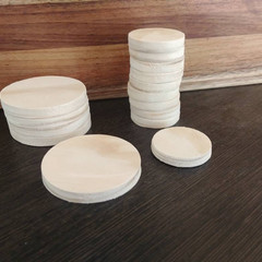 10 Wooden Coins raw or painted
