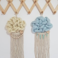 Macramé Cloud Wall Hanging, Baby Nursery, Kids Bedroom