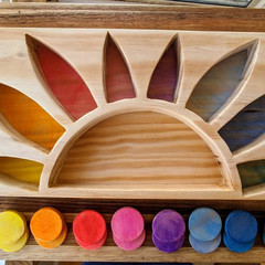 Wooden sunrise colour sorter