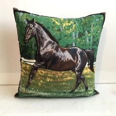 Black Horse Cushion Cover