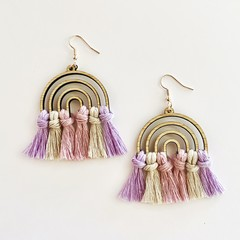 Rainbow macrame earrings SPECIAL PRICE