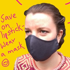 Women and Teen Grey Face Mask with Filter Pocket