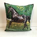 Black Horse Cushion Cover