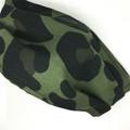 Fabric Face mask, Leopard Spot Green