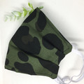 Fabric Face mask, Leopard Spot Green