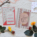 Set of 5 Handmade Notecards - In the Red
