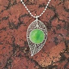 Stunning eucalyptus leaf necklace