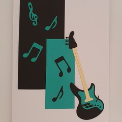 Greeting Card - 'Small Leaning Guitar'