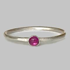 Garnet birthstone ring