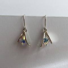 Sterling silver 925 & Swarovski Crystal Drop Earrings