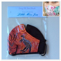 Snug Fit Masks (2 pce pack) Ladies/Teens