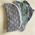 Burp Cloth - pack of 3 - contoured - Woodland Theme