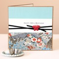 Any Age Birthday Card, Handmade Personalised Oriental Blues, Card For Her